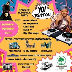 Mark your calendars Denton hip hop heads! We\'ve gathered some of the best djs in DFW to bring you a night of hip hop culture at its finest. Follow @yodentonraps for more info & some fun posts.  #dentonslacker #yodenton #yodentonraps #dentonhiphop #backyardonbell #baconomics #denton #dentontexas #dentontx #dentoning #dentonite #thedentonite #unt #twu #nctc #dfwhiphop #wedentondoit #wearedenton #dentonarts #dentonproud