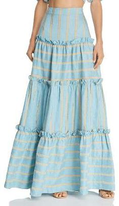 Paper London Coquillage Maxi Skirt Women – Bloomingdale's Paper London Coquillage Maxi Skirt A Line Skirt Outfits, Maxi Skirt Style, Casual Dresses For Women, Nice Dresses, Summer Dresses, Boho Fashion, Fashion Dresses, Modelos Fashion, Womens Maxi Skirts