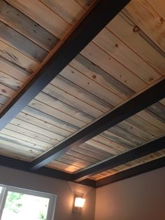 More About Fabulous Mancave Remodel Do It Yourself Basement Makeover, Basement Renovations, Home Remodeling, Basement Inspiration, Home Ceiling, Man Cave Bar, Wood Ceilings, House Roof, Home Reno