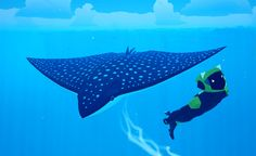 Modelling Sealife - Eagle Ray Hello, I'm Bryce, the environment artist at Giant Squid. I wanted to share a little bit about our art style and our process for creating the fascinating undersea life in ABZÛ. Let's start with an eagle ray I did early in...