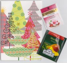 Received from Singapore: Christmas card and teabags (~Merry Christmas~Card Swap~)