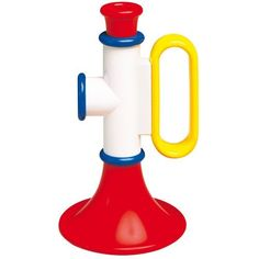 This toy trumpet may give you the answer!This is a cute toy instrument for toddlersIt is colourful, durable and a fun.It is easy to play, and has two different sounds.Trumpet measures approximately 5 inches in length Baby Musical Toys, Baby Toys, Toys For Girls, Kids Toys, Top Toddler Toys, Toy Trumpet, Baby Bach, Kids Toy Store, Imagination Toys