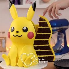 If you are looking for a DIY Pokemon theme for your girl or boys birthdays then this easy step by step tutorial on how to make a PIKACHU CAKE pattern recipe is all you need. Pikachu Pikachu, Pikachu Cake, Bolo Pikachu, Pokemon Birthday Cake, Pokemon Party, Pokemon Pokemon, Pokemon Cakes, Pokemon Tattoo, Pokemon Funny