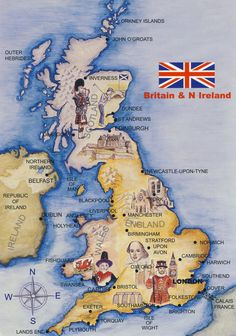 66 Best Maps of the British Isles including towns and cities images