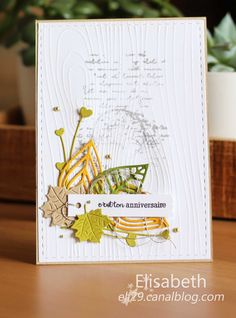 Cards For Friends, Fall Cards, Card Sketches, Easy Wood Projects, Card Tags, Paper Cards, Happy Anniversary, Embossing Folder, Flower Cards