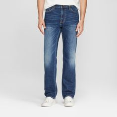 68027e0680 Add a classic option to your closet with these men's Straight-Fit Jeans  from Goodfellow
