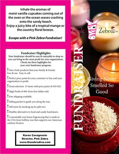 Pink Zebra Home - Independent Consultant: Giving Never Smelled So Good - Pink Zebra Fundraisers