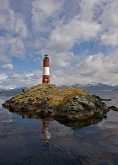 Love this photo of the beagle channel. Faro del fin del mundo. Tierra del Fuego, Argentina