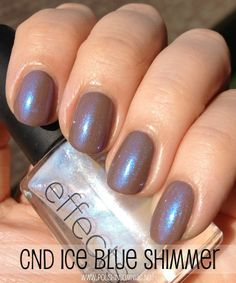 Today's NOTD: CND Effects Ice Blue Shimmer over Layla Beige Revolution