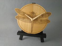Dragonfly Wall Clock For The Home or Office by MWBStudios on Etsy, $29.00