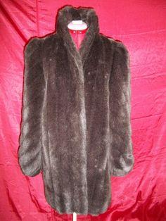 Vintage 50s Faux Fur Coat  By American by VICTORIASVINTAGE4U