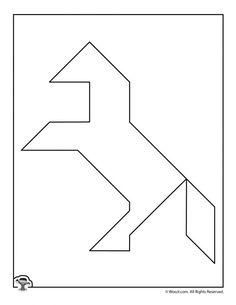 Printable Tangrams Animal Puzzles | Woo! Jr. Kids Activities Tangram Printable, Free Printable Numbers, Kindergarten Math Activities, Activities For Kids, Maths, Educational Websites For Kids, Maze Worksheet, Tangram Puzzles, Animal Puzzle