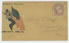This rare Civil War envelope from Camp Scott in York PA sold for $240 on eBay in February 2016.