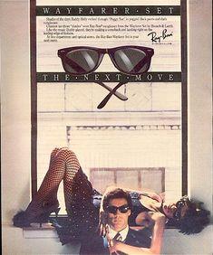 1983 Bausch & Lomb ray Ban Wayfarer set ad