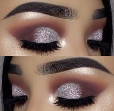 Light Purple And Silver Eye Makeup Inspiration