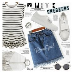"""Bright White Sneakers"" by katjuncica ❤ liked on Polyvore featuring Rebecca Minkoff, Acne Studios, vintage and whitesneakers"