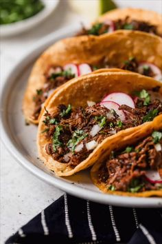 Barbacoa Beef Recipe Slow Cooker Cooking Classy is part of Beef recipes - The best Barbacoa Beef recipe! This flavorful meat is deliciously seasoned and cooked low and slow until perfectly tender Layer it in tortillas with all Slow Cooker Recipes, Crockpot Recipes, Cooking Recipes, Healthy Recipes, Chipotle Copycat Recipes, Stew Meat Recipes, Cooking Games, Meal Recipes, Good Food