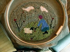Love this needlepunch. She turned it into a nice big round pillow