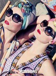 #prints #tribal #headwraps #woman #sunnies #sunglasses #summer #swimwear
