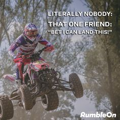 Sometimes it's good to live life on the wild side. 🏍️ 🏁 RumbleOn has a great selection of motorcycles, ATVs, and powersports to choose from. Or if you're looking for a new ride, you can trade us your old one! Funny Motorcycle Memes, That One Friend, Atvs, Old Ones, Play Hard, Live Life, Harley Davidson, Biker, Motorcycles