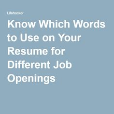 Words To Use For Resume How To Tell A Cohesive Career Story When You've Done A Little Bit Of .