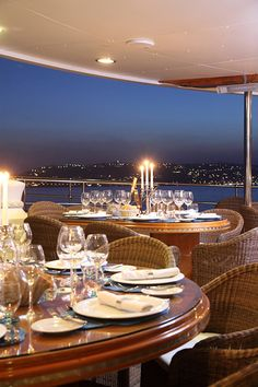 Romantic candle-lit dining - Al fresco on the French Riviera.- LadyLuxury