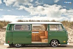 VW Baywindow, Tintop camper. I don't normally pin the VW vans, but this is pretty sweet.