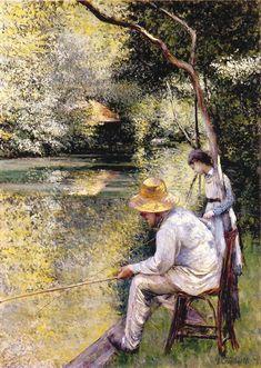 """""""Pêche à la ligne"""" Gustave Caillebotte, 1878"""