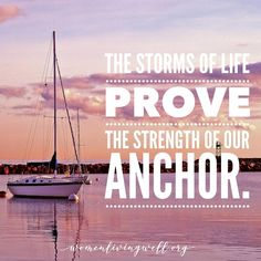 "In the midst of life's storms - God is our anchor👊🏻. He will not abandon us. He is with us and will hold us steady when we trust in Him🙌🏻 - so we can say with confidence: ""God is our refuge and strength, a very present help in trouble. Online Bible Study, Bible Study Tools, Lord Of Hosts, Biblical Inspiration, Psalm 46, The Right Man, Biblical Quotes, Daily Prayer, Life S"
