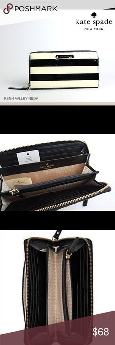 NWT!! KATE SPADE PENN VALLEY NEDA CLUTCH WALLET ***$25 dollars off code***** KATE SPADE PENN VALLEY NEDA CLUTCH WALLET!!! Sooooooo cute 😍😍😍AUTHENTICITY GUARANTEED❗️NO TRADES ❌                                          BRAND NEW WITH TAGS ❗️                               Firm PRICE ‼️  BUNDLE FOR DISCOUNT OR message me on tradesy @harleybear to get coupon code for $25 off plus free shipping ! That means you can GET THIS DESIGNER CLUTCH for only $44 🤗🤗🤗🤗 kate spade Bags Clutches…