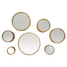 The Margate gold accent mirrors are wall decor you can design your entire room around. The metallic finish is a gorgeous gold, which makes your room glow with light. These mirrors are Nt connected, so they can be hung separately and arranged any way that makes sense for your room. This allows you to get creative and design a truly unique look. For people who appreciate rich, extravagant design, the set makes a powerful statement in your hallway, dining room, bathroom, living room or foyer…