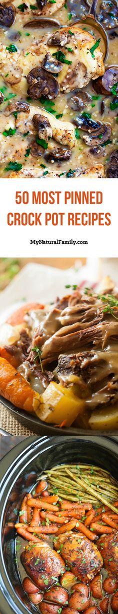 50 Most Pinned Crock Pot Recipes