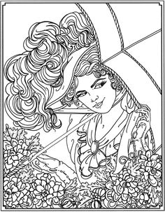 Welcome to Dover Publications  Creative Haven American Beauties Coloring Book
