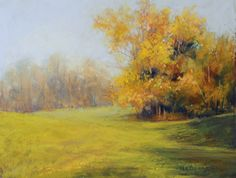 """Autumn Shadows by Kathy McDonnell Pastel ~ 8"""" x 10"""""""
