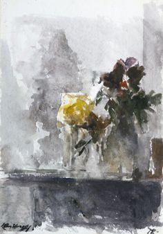 Watercolor Artists, Watercolor Flowers, Edgar Degas, Watercolours, Arts, Still Life, Belgium, Dutch, Modern Art
