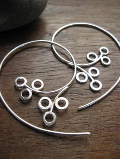 Winterberry Hoops - Earrings handmade in Italy from Sterling Silver, $68