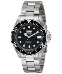 Invicta Men's Pro Diver Stainless Steel Watch with Link Bracelet Sport Watches, Cool Watches, Watches For Men, Stainless Steel Watch, Stainless Steel Bracelet, Swiss Automatic Watches, Fitness Gifts, Watch Sale