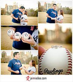 Baseball Theme Wedding Ideas | Baseball theme engagement session! | Wedding Ideas!!
