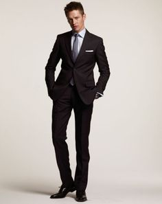 The Grey Suits/Blue Tie Combo: Here is a great grey suit/blue tie ...