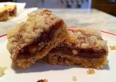Peanutty Caramel Squares - melted snickers with coconut in middle, crumb topping