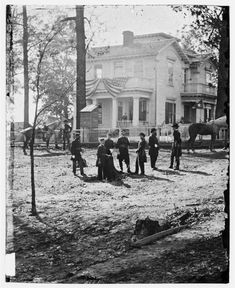 Federal officers in front of a home in Atlanta, Georgia during the Civil War. This was the house owned by my great grandfather Colonel Randall Charles Anderson of Atlanta, Georgia. History Photos, World History, Historia Universal, America Civil War, Civil War Photos, Interesting History, Interesting Facts, Old Photos, Vintage Photos