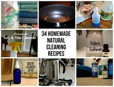 34 Homemade Natural Cleaning Recipes (Natural cleaning recipes for every room in the house)