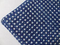 Polka Dots Indigo block print soft cotton  one yard 44''width Fabric By The Yard Supplies Quilt, Cushion, Pillow, Dressmaking GVK-15-106 by indianstores on Etsy