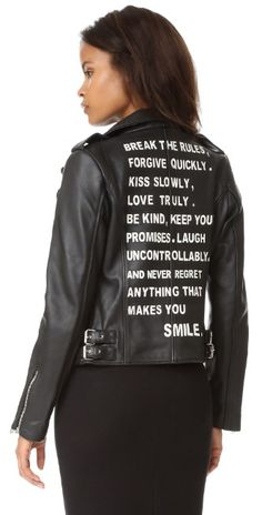 ff94958193f JN by JN LLOVET Rules Leather Jacket