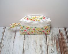 Small Zipper Bag  Spring Small Bag  Floral  Small by jayciMay, $9.00