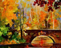 Rainy Fog PALETTE KNIFE Oil Painting On door AfremovArtStudio