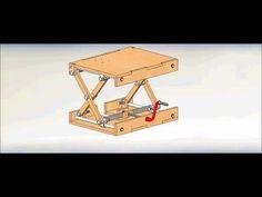 Wood Scissor Lifting Table - YouTube