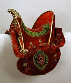 Polish hussar saddle by Anonymous from Poland, before 1600, Kremlin Museum, from the collection of Sigismund III Vasa, one of the two hussar saddles brought to Boris Godunov in 1600 by the Polish-Lithuanian Commonwealth envoys Lew Sapieha, Stanisław Warszycki and Eliasz Pielgrzymowski, as a gift from Sigismund III