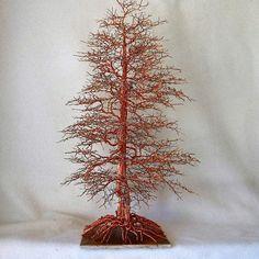 Wire Tree Sculpture,Tree of Life,Wire Art,Metal Tree,Wire Trees,Wire Sculpture,Metal Sculpture,Cedar Tree,Family Tree,US Artist,