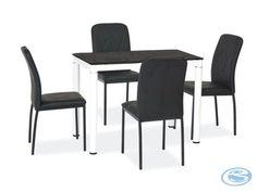 Jídelní set Damar 4+1 černá – FALCO Jídelní set vhodný do každého interiéru se skládá ze 4 čalouněných židlí a skleněného stolu. Jídelní židle jsou vyrobeny z umělé kůže, nohy jsou v barvě chrom. Jídelní … Dining Chairs, Dining Sets, Furniture, Home Decor, Dinner Sets, Decoration Home, Dining Room Furniture, Room Decor, Dinnerware
